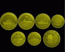 Набор монет  300 лет Российскому флоту 1996