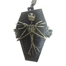 Часы на цепочке скелетик в гробу