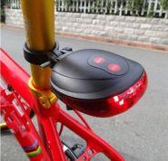 Задний фонарь велосипедный лазерный