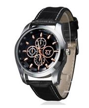 """Часы """"Курьер-504"""" на коричневом кожаном ремешке"""