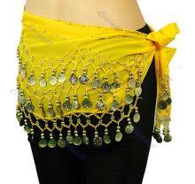Пояс для восточных танцев Желтый