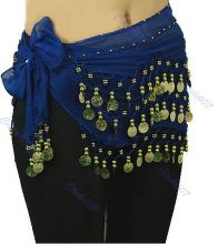 Пояс для восточных танцев Belly Dance Синий