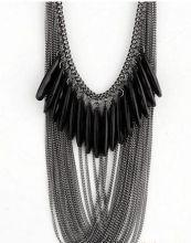 "Ожерелье черное ""Сантини"""