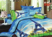 Постельное белье 3D Париж Сатин, 2 спальное