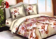 Постельное белье 3D Орхидея, Сатин, 1,5 спальное